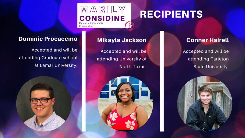 2021 Scholarship Recipients