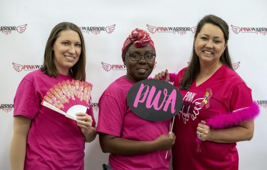 Pink Out Party by Pink Warrior Angels and Moving with the Military at Homebase Lumber in Copperas Cove, Texas on October 27, 2018.